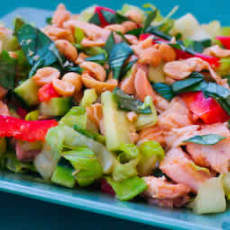 Leftover-chicken-salad-with-snow-peas_-cucumbers_-red-bell-pepper_-and-thai-basil-309758-274211.card